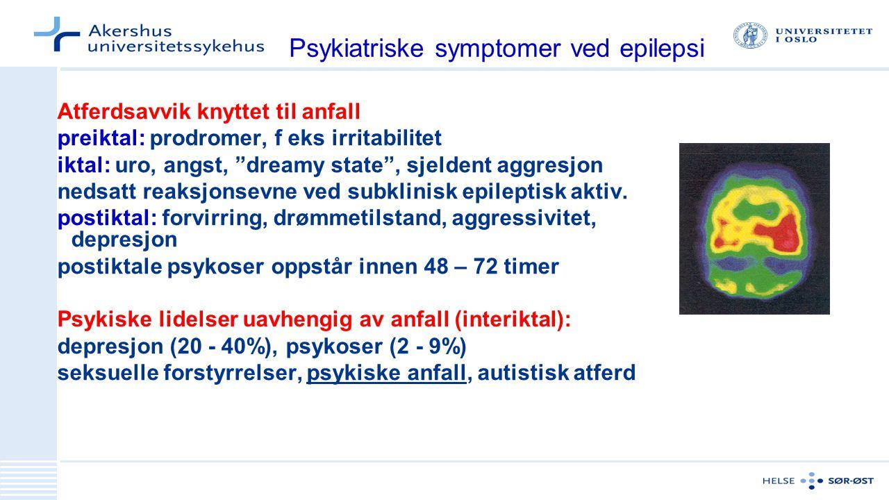 Psykiatriske symptomer ved epilepsi
