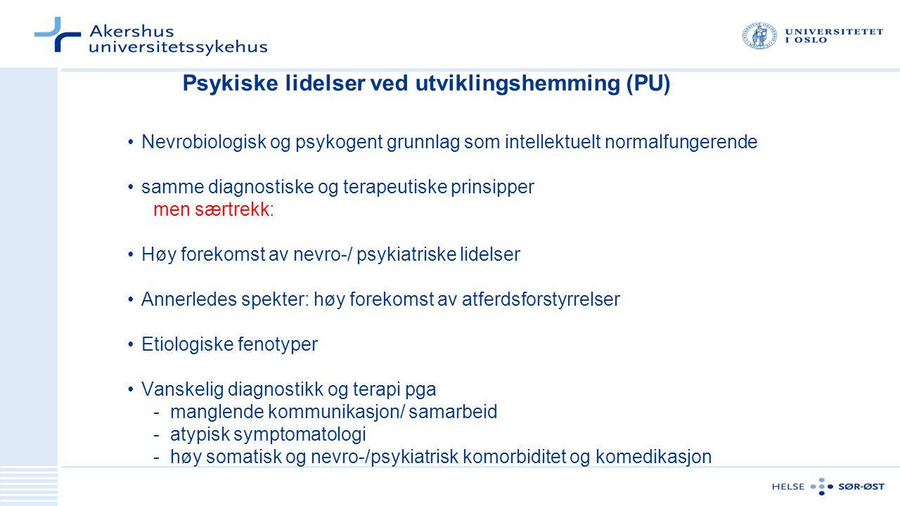 Psykiske lidelser ved utviklingshemming (PU)