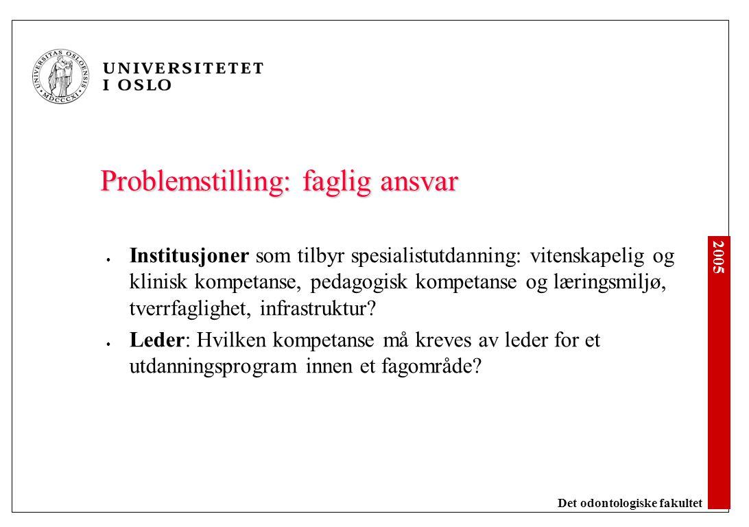 Problemstilling: forskningskomponenten