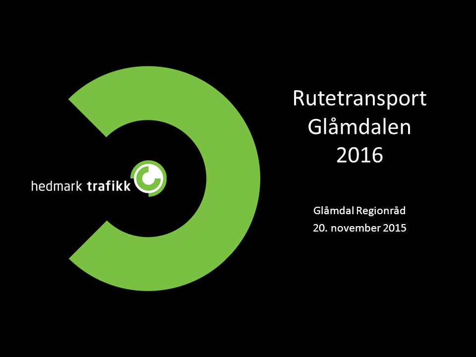 Rutetransport Glåmdalen 2016