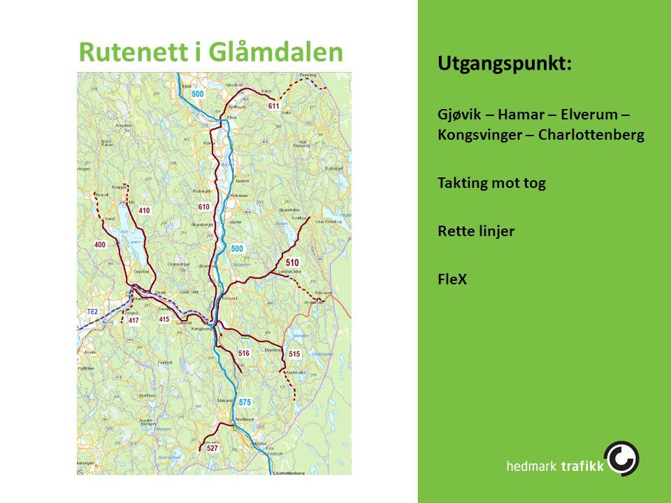 Rutenett i Glåmdalen Utgangspunkt: