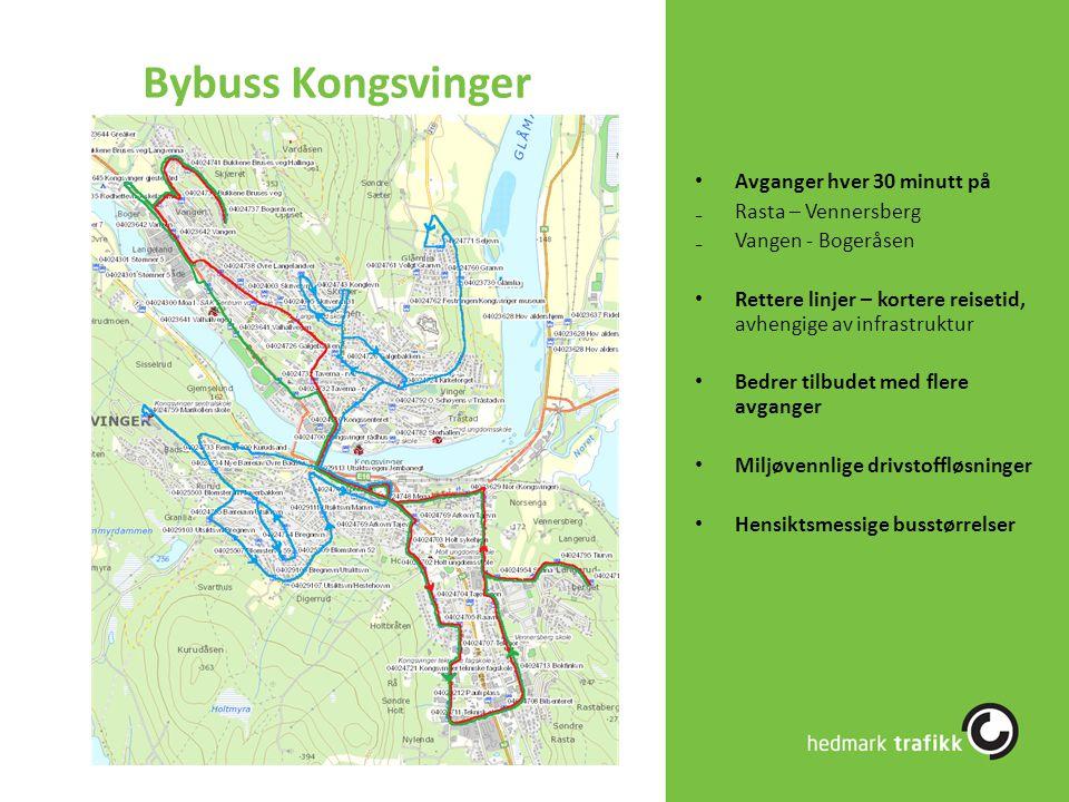 Bybuss Kongsvinger Avganger hver 30 minutt på Rasta – Vennersberg