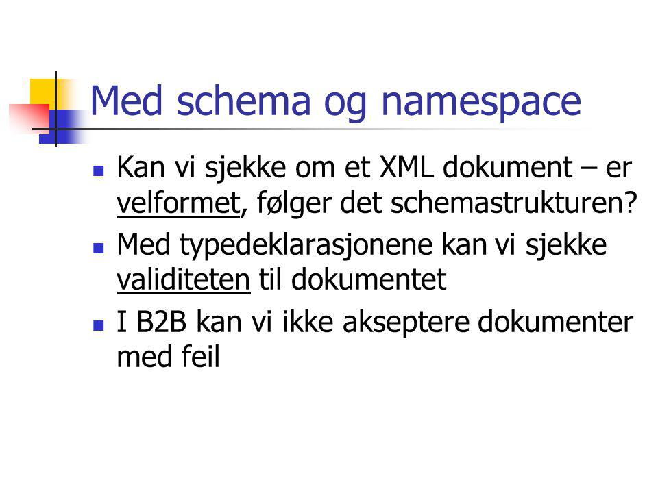 Med schema og namespace