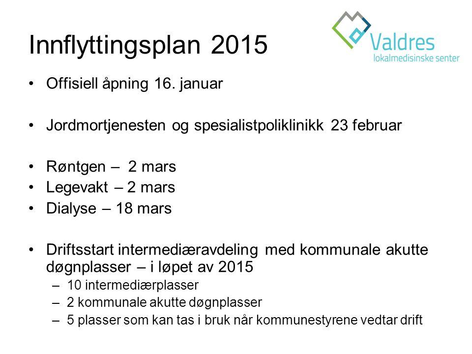 Innflyttingsplan 2015 Offisiell åpning 16. januar