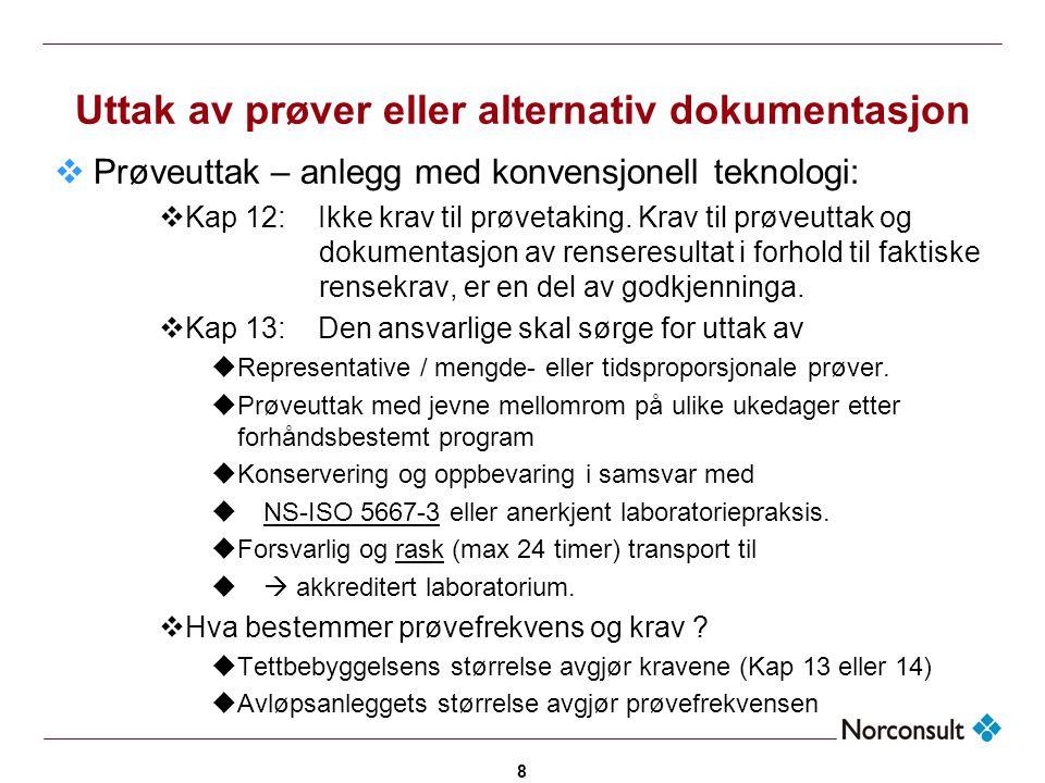 Uttak av prøver eller alternativ dokumentasjon