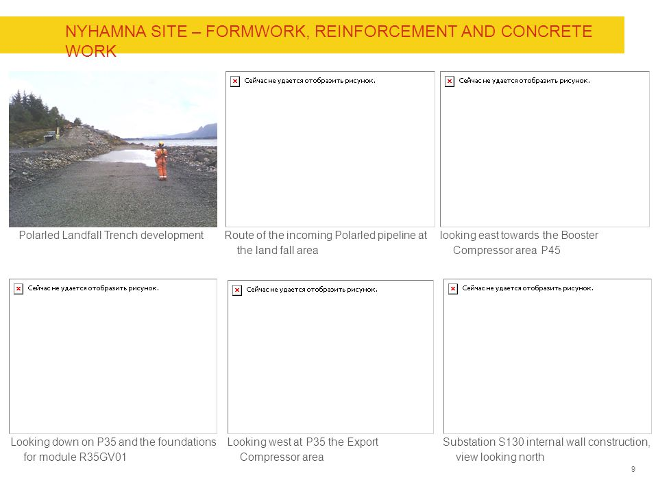Nyhamna Site – Formwork, reinforcement and Concrete work