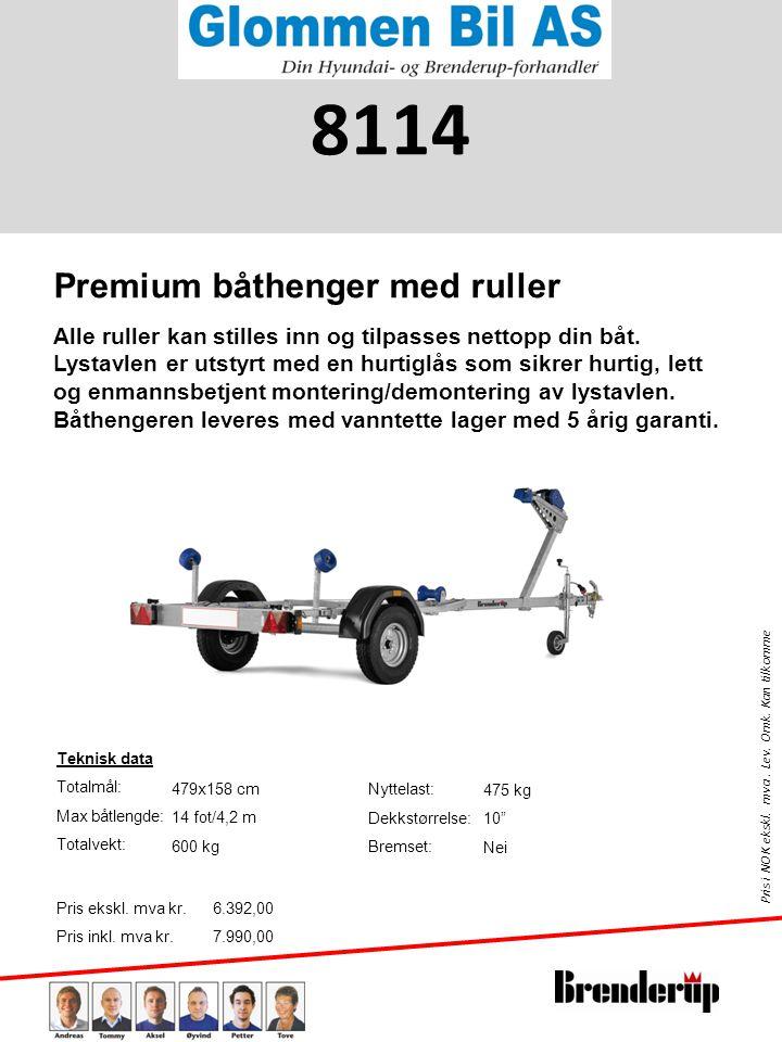 8114 Premium båthenger med ruller