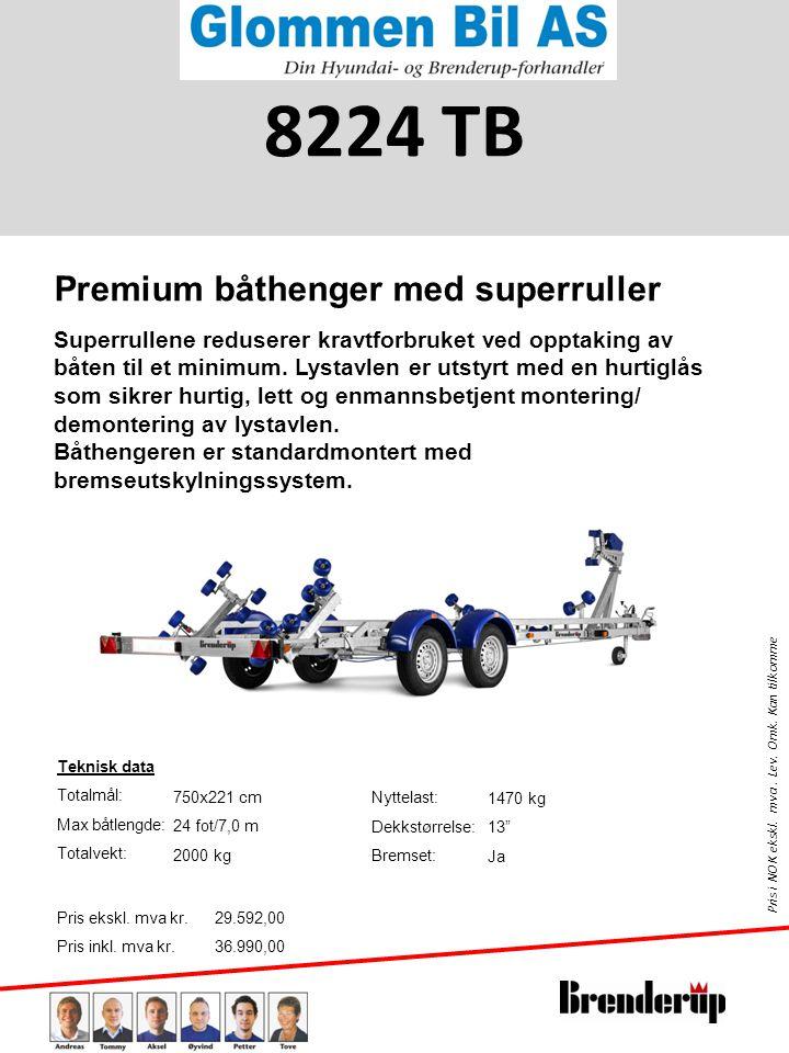 8224 TB Premium båthenger med superruller