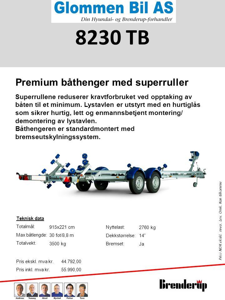 8230 TB Premium båthenger med superruller