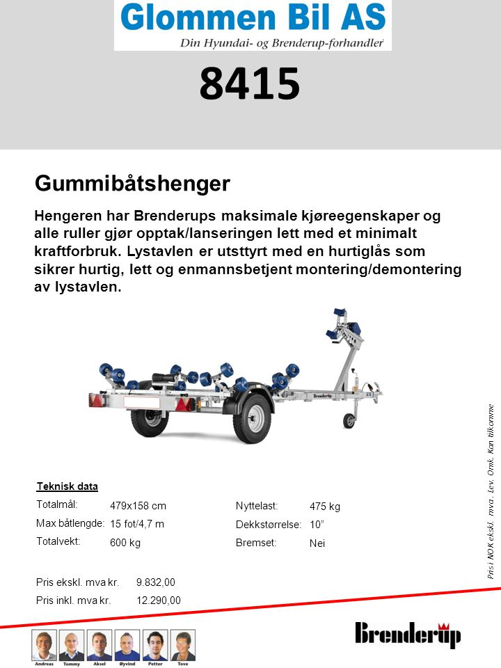 8415 Gummibåtshenger.