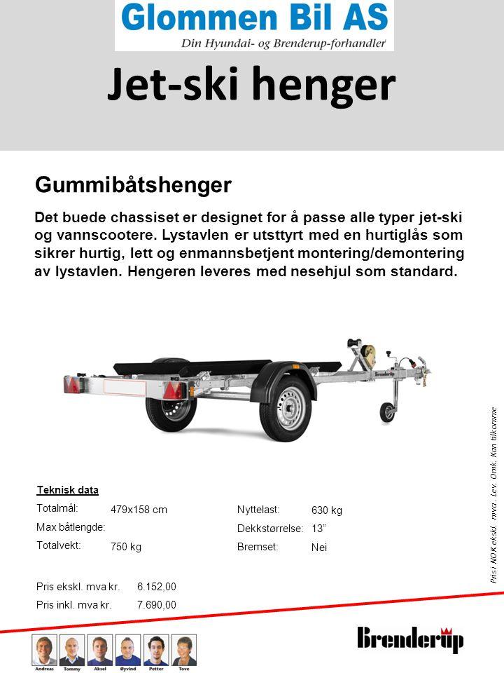 Jet-ski henger Gummibåtshenger