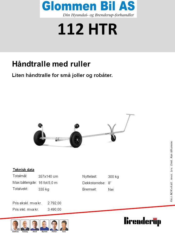 112 HTR Håndtralle med ruller