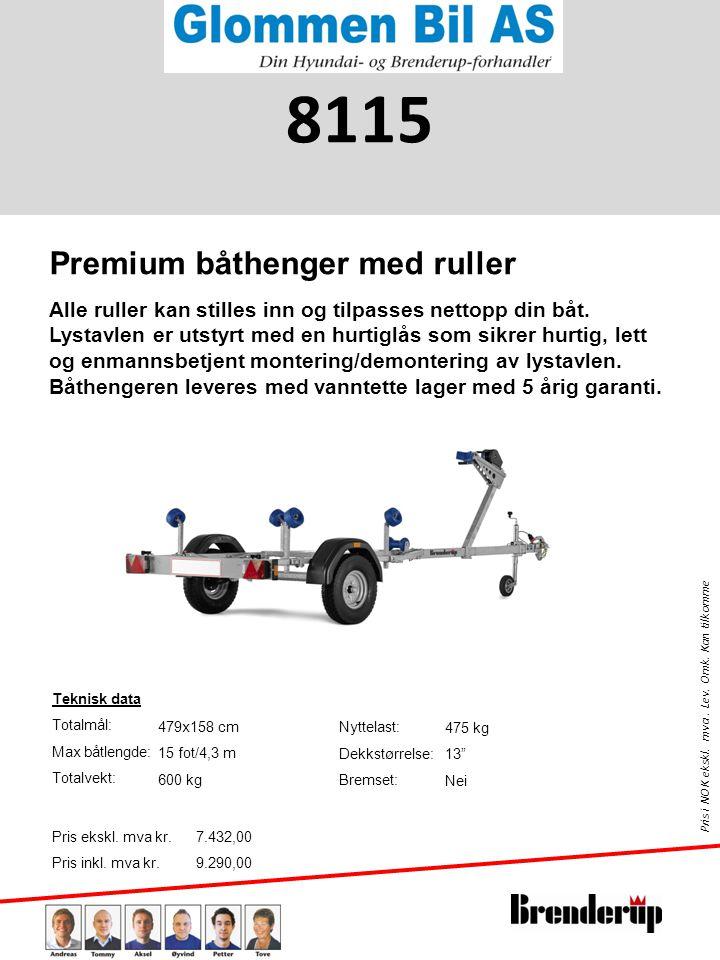 8115 Premium båthenger med ruller
