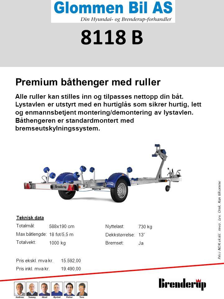 8118 B Premium båthenger med ruller