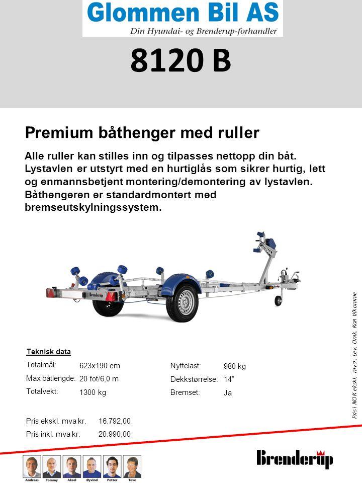 8120 B Premium båthenger med ruller