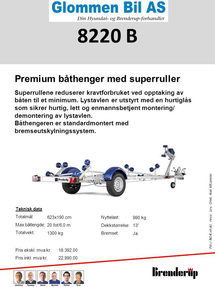 8220 B Premium båthenger med superruller