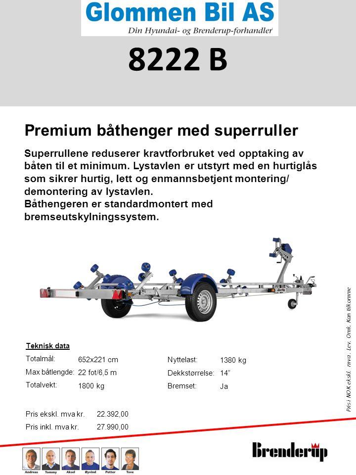 8222 B Premium båthenger med superruller