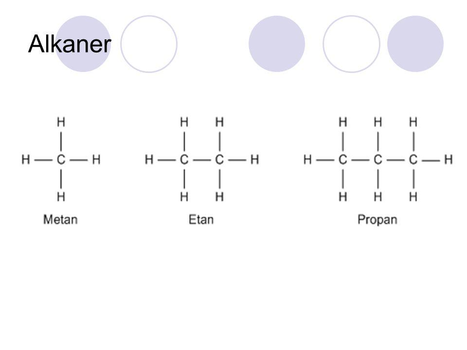 Alkaner Lysbilde 13 Skriv molekylformel og kulepinnemodell.