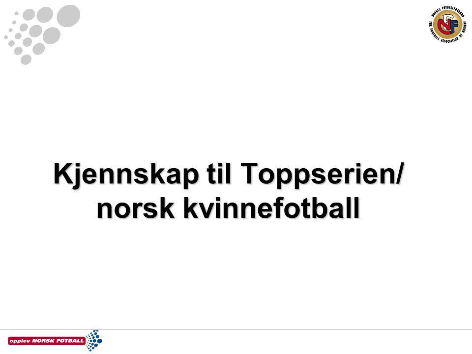 Kjennskap til Toppserien/ norsk kvinnefotball