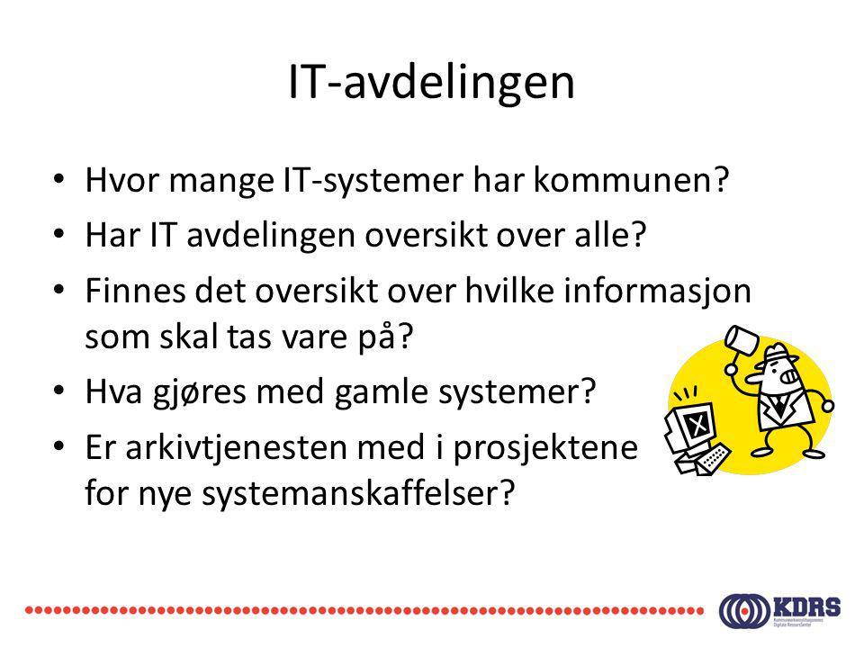 IT-avdelingen Hvor mange IT-systemer har kommunen