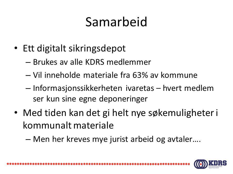 Samarbeid Ett digitalt sikringsdepot