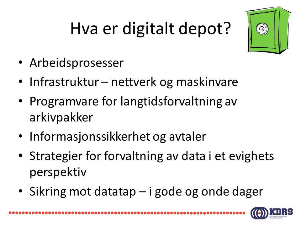 Hva er digitalt depot Arbeidsprosesser