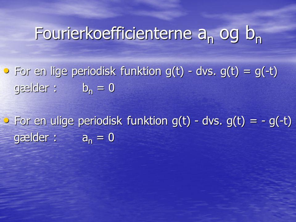Fourierkoefficienterne an og bn