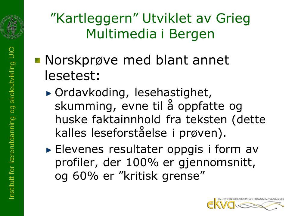 Kartleggern Utviklet av Grieg Multimedia i Bergen
