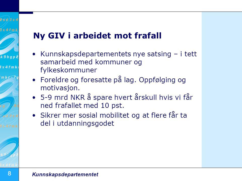 Ny GIV i arbeidet mot frafall