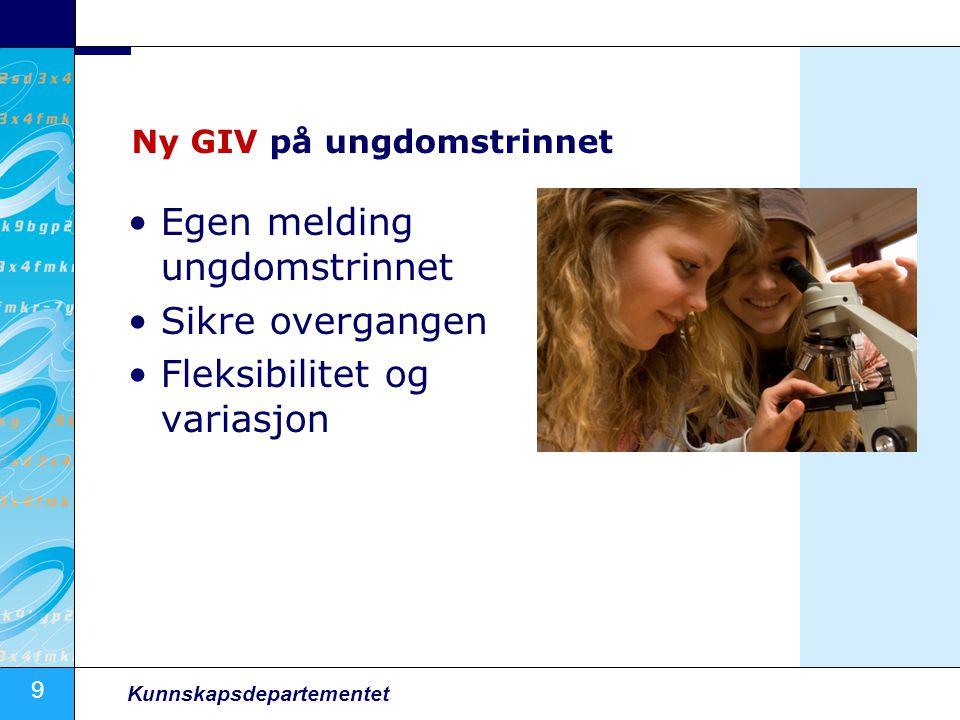 Ny GIV på ungdomstrinnet
