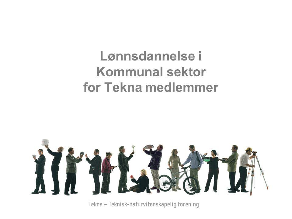 Lønnsdannelse i Kommunal sektor for Tekna medlemmer
