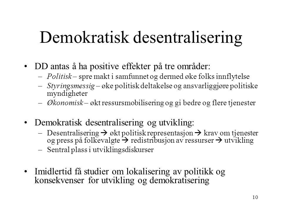 Demokratisk desentralisering