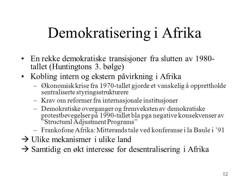 Demokratisering i Afrika