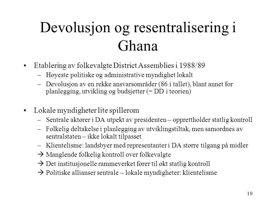 Devolusjon og resentralisering i Ghana