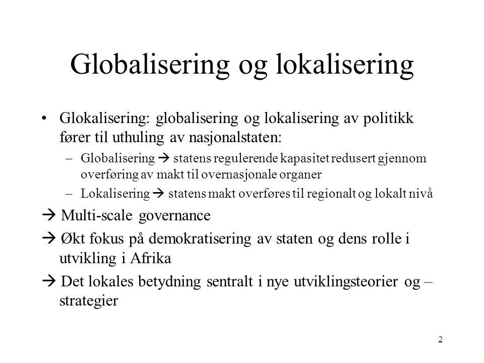 Globalisering og lokalisering