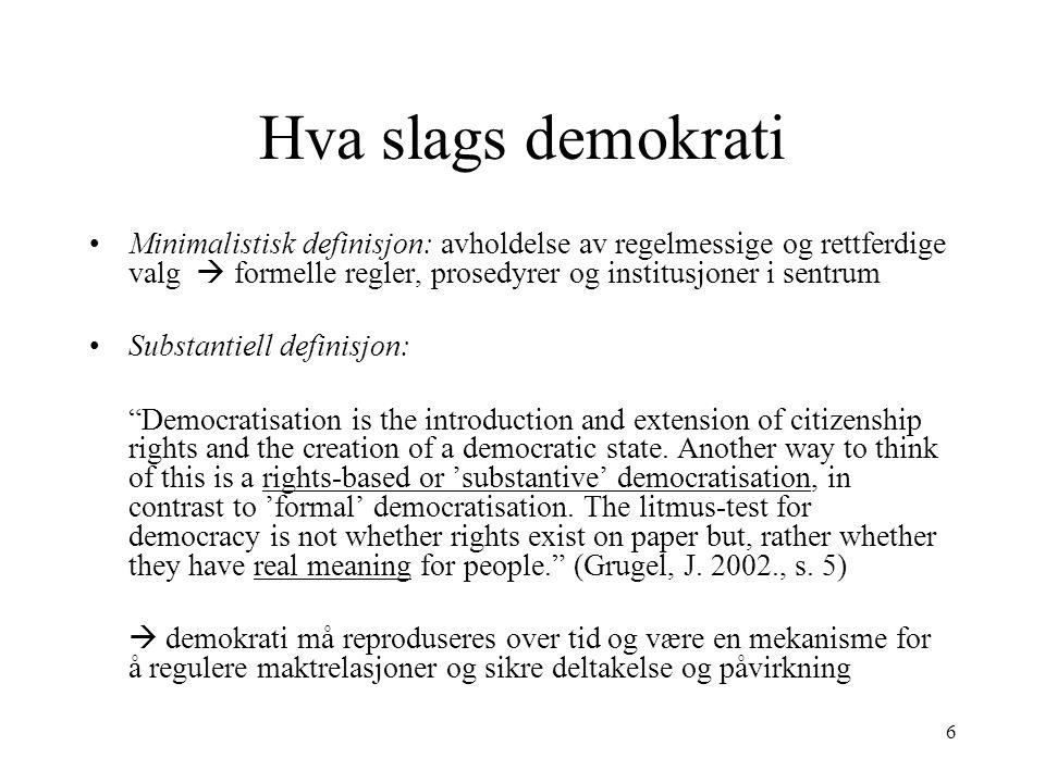 Hva slags demokrati