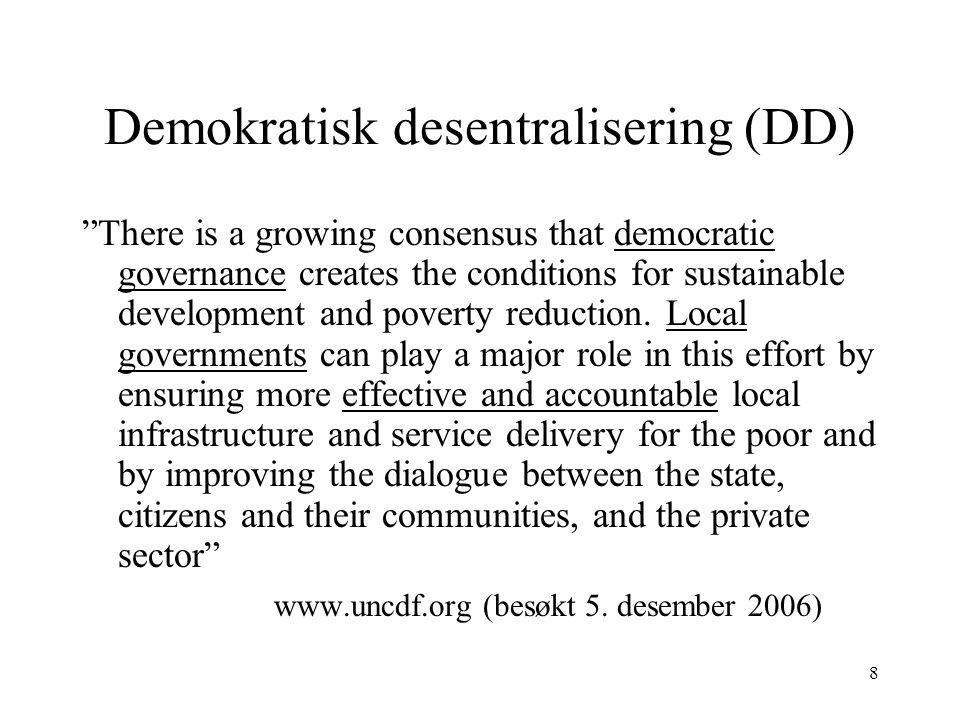 Demokratisk desentralisering (DD)