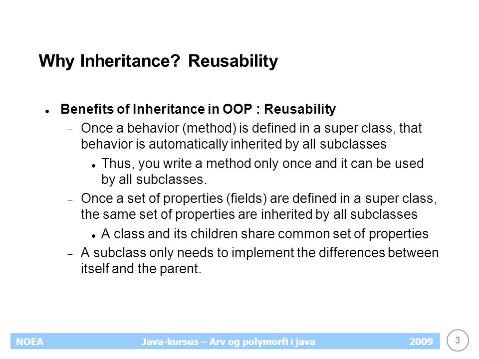 Why Inheritance Reusability