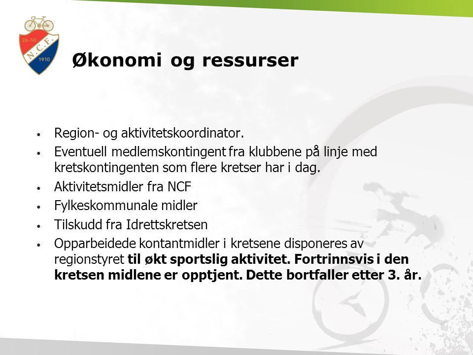Økonomi og ressurser Region- og aktivitetskoordinator.