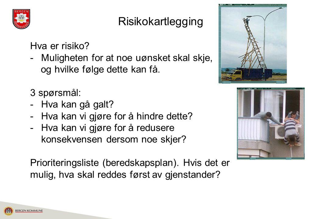 Risikokartlegging Hva er risiko