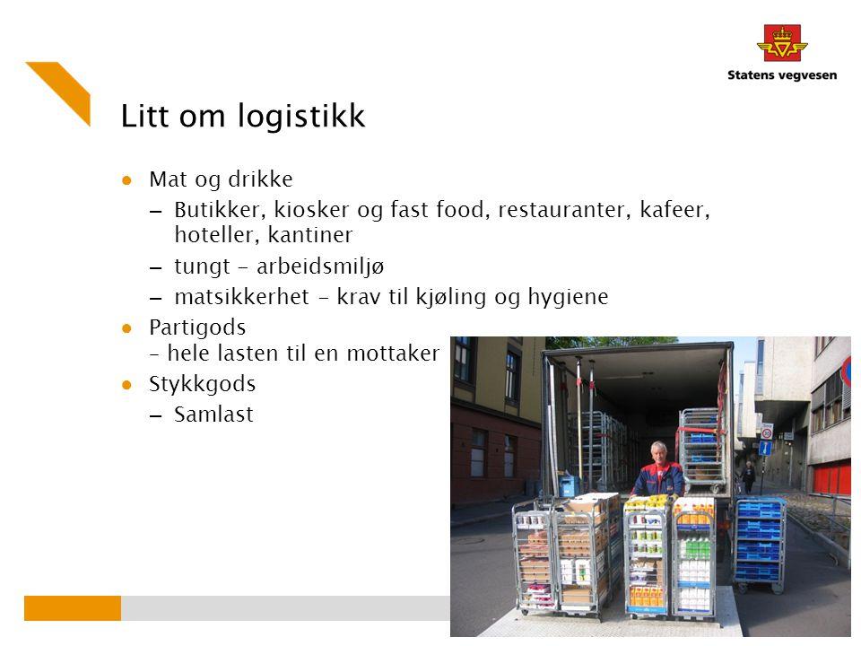 Litt om logistikk Mat og drikke
