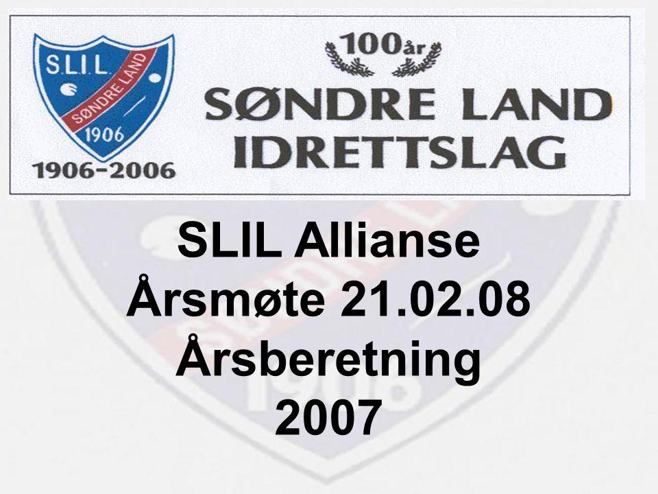 SLIL Allianse Årsmøte 21.02.08 Årsberetning 2007