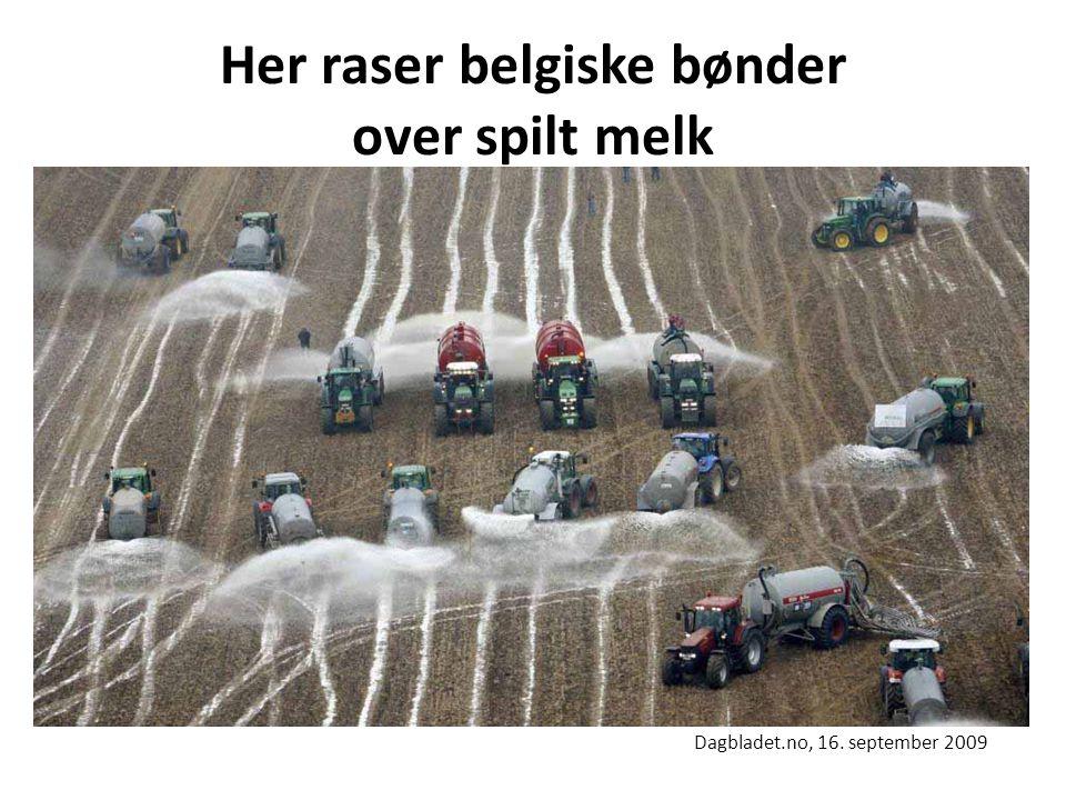 Her raser belgiske bønder over spilt melk