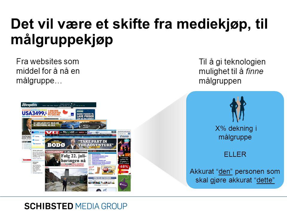 Det vil være et skifte fra mediekjøp, til målgruppekjøp