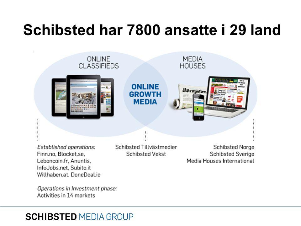 Schibsted har 7800 ansatte i 29 land