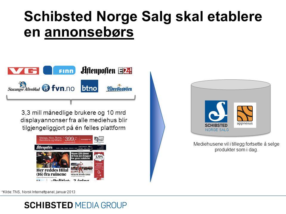 Schibsted Norge Salg skal etablere en annonsebørs