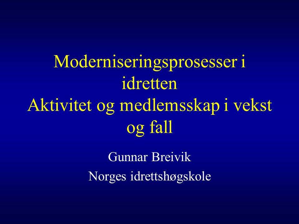 Gunnar Breivik Norges idrettshøgskole