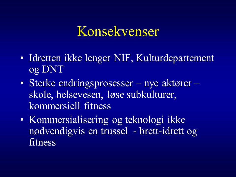 Konsekvenser Idretten ikke lenger NIF, Kulturdepartement og DNT