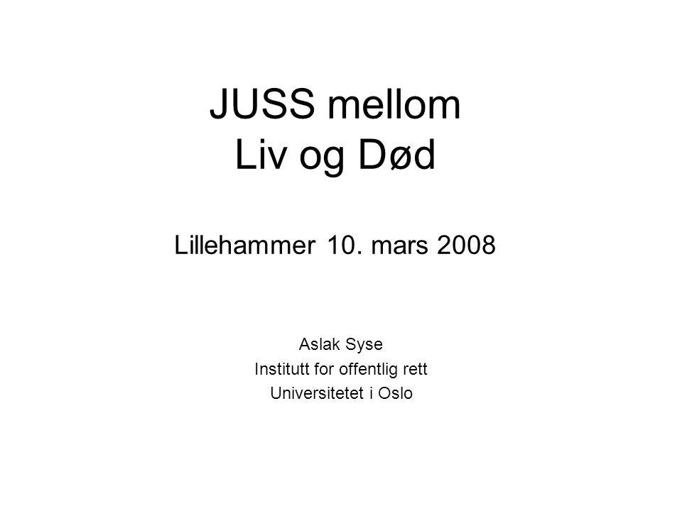 JUSS mellom Liv og Død Lillehammer 10. mars 2008