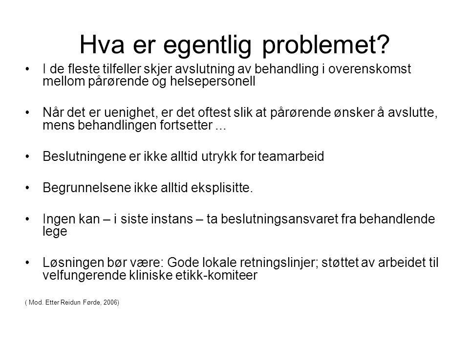 Hva er egentlig problemet